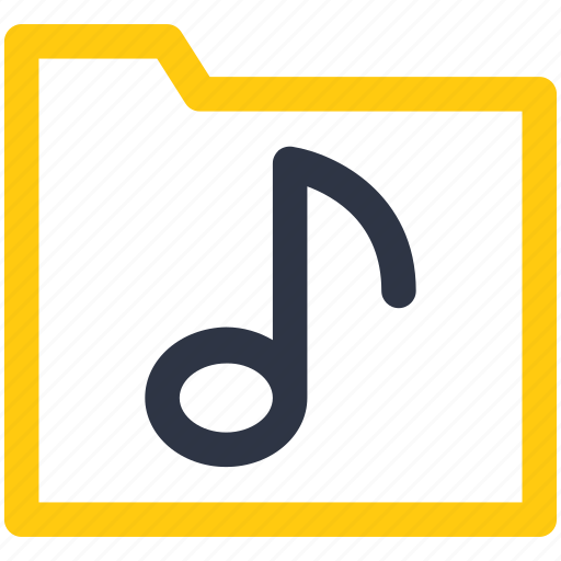 multimedia, music, music note, notation, note icon icon