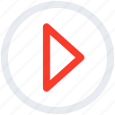 arrow, play, play button icon icon