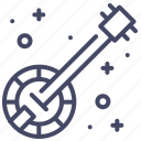 banjo, instrument, music