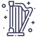 harp, instrument, musical icon