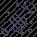 brass, instrument, trumpet icon