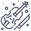 instrument, orchestra, violin icon
