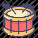 drum, instrument, musical