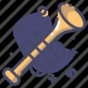 brass, instrument, trumpet