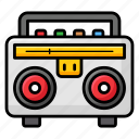 audio device, boombox, cassette player, cassette recorder, tape recorder icon