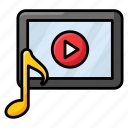 media player, mobile app, mobile player, multimedia, music application, music video icon
