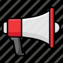 advertisement, announcement, bullhorn, loudspeaker, megaphone, sports promotion icon