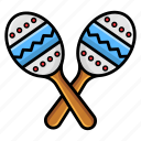 baby rattles, baby toy, maracas, mexican music, music rattles, musical instrument icon