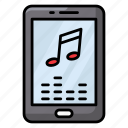 media player, mobile app, mobile player, multimedia, music application icon