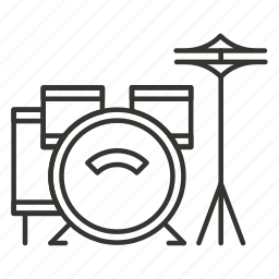 drum, drums, instrument, music, sound icon