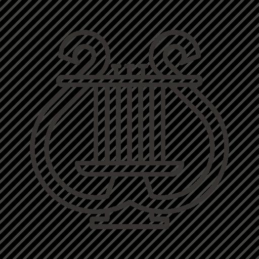 harp, instrument, music, musical, sound icon