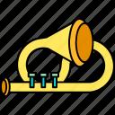 instruments, music, trumpet, tuba icon