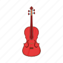 cartoon, cello, instrument, music, musical, sign, string icon