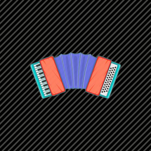 accordion, art, cartoon, instrument, music, musical, sign icon