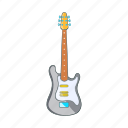 cartoon, electric, guitar, music, musical, rock, sign icon