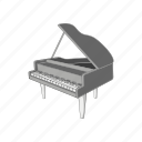 cartoon, instrument, keyboard, music, musical, piano, sign icon