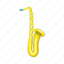 art, cartoon, instrument, musical, saxophone, sign, sound icon