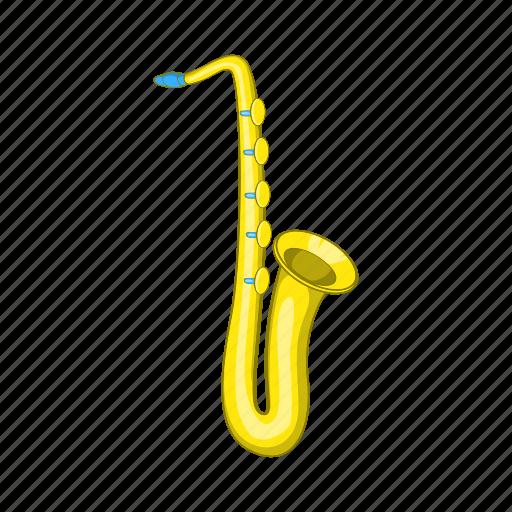 art, cartoon, instrument, musical, saxophone, sign, sound icon