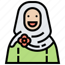 arab, muslim, traditional, hijab, woman icon
