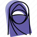 chador, islam, muslim, profile, user, woman icon