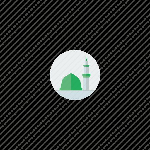 arab, arabic, architecture, dome, islam, islamic, madina, masjid, masjid nabawi, masjid nabwi, medina, minaret, mosque, muslim, prophet icon