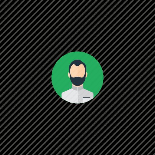 Arab, arabic, beard, collar, facial hair, islam, islamic icon - Download on Iconfinder