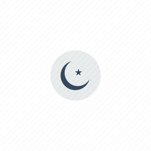 arab, arabic, crescent, islam, islamic, moon, muslim, religious, star, symbolism icon