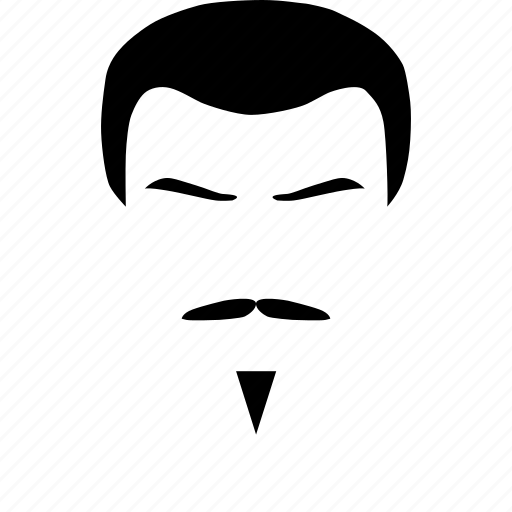 Mustache styled, style, black mustache, mustache, man, hair, face icon