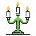 candle, candlestick, light, mystic icon