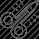 manicure, scissor, cut, care, steel, equipment, tool icon