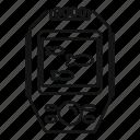 digital, echo, sounder, vector, thin