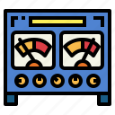 energy, measuring, power, voltmeter icon