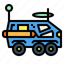 automobile, moon, rover, transportation, vehicle icon