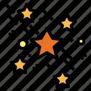 night, shine, space, star icon
