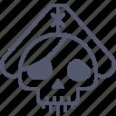 pirate, ship, skull, undead icon