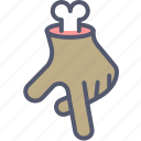 bone, gesture, hand, movement, undead icon