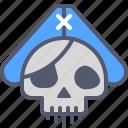 pirate, ship, skull, undead