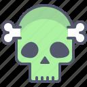 bone, dead, horror, skull, undead