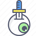 eye, sword, weapon, wound icon
