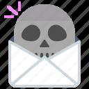 mail, news, skull, dead, message, envelope