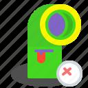 blind, eye, eyeless, hole, worm icon