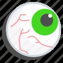 blood, eyeball, hole, vessels, vision icon