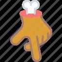 bone, gesture, hand, movement, undead icon