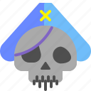 ship, skull, pirate, undead