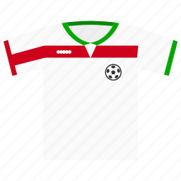 football, iran, kit, soccer, world cup icon