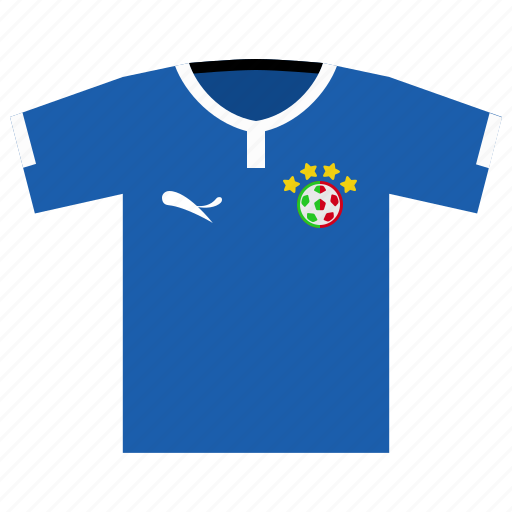 football, italy, jersey, kit, soccer, world cup icon