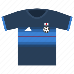 asia, football, japan, jersey, soccer icon