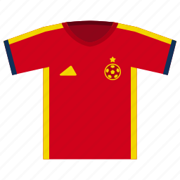 euro cup, football, jersey, soccer, spain, world cup icon