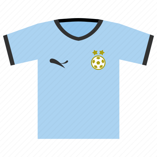 football, kit, soccer, uruguay, world cup icon