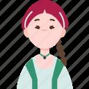 jordanian, traditional, costume, asia, woman